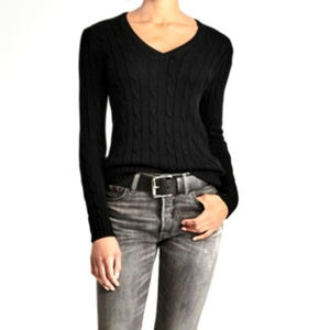 Charter Club Black Cable Knit Sweater